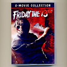 Friday the 13th 8-Movie Collection R horror movies, new DVDs, 8-disc set, Jason