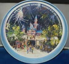 International Soft Drink Exposition Metal Tray 1985 Anaheim Ca. Drink Tray