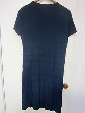 navy blue tiered dress SIZE 10 BY CHOPIN ROMA