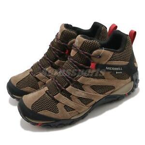 Merrell Alverstone Mid GTX Gore-Tex Brown Men Outdoors Hiking Trail Shoe J034551