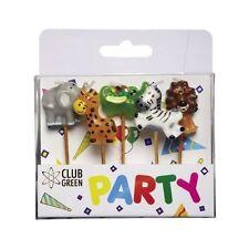 GIUNGLA Animali Party Candele Decorazione per Torta Set compleanno cake topper Figura
