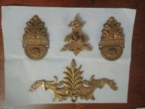 Lot of 4 decorative ormolu Bronze pediment XVIII centuries
