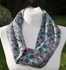 Infinity Scarf in vintage Liberty Tana Lawn cotton  blue grey pink ivory classic