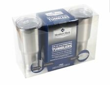 **BRAND NEW** MEMBERS MARK STAINLESS STEEL 30OZ DOUBLE WALL TUMBERS
