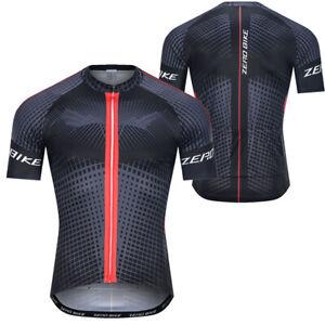 ZEROBIKE Men Cycling Jersey  Bike Clothing Half Sleeve Cycling Shorts Set UK