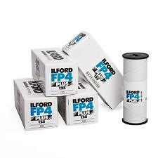 5x Ilford FP4 Plus 120 Rollfilm b/w s/w schwarz weiß Film