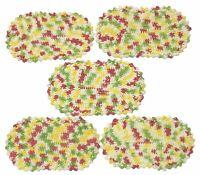 Vintage Handmade Crochet Knit Doilies Multi-color Lot of 5