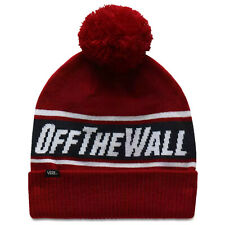 Vans mn otw pom beanie hat - biking red / dress blues - cappellino a cuffia