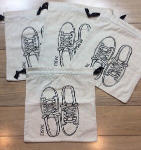 "12"" x 13"" Set of 4 DSW Canvas Shoes Dust Bag Cover Purse Handbag Protector NEW"