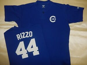 0218 Boys Youth Chicago Cubs ANTHONY RIZZO Pullover Baseball JERSEY BLUE New