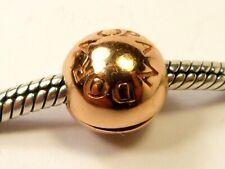 PANDORA CHARM SILVER GENUINE 925 ALE GOLD SHINE LOGO OPENING BALL CLIP 767053