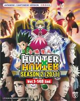 DVD Anime HUNTER X HUNTER Complete Season 2 (2011) Vol.1-148 End BOXSET NEW