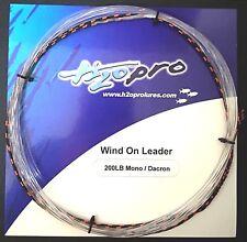Wind-on-leader H2o Pro Terminale Traina Senza Nodi Fluoro ~ Dacron 200lb