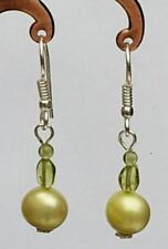 Peridot Hook Silver Plated Fine Earrings