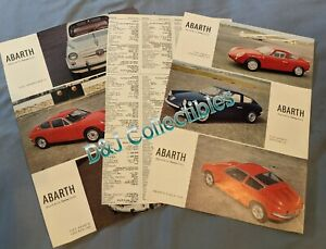 Lot of 3 1960's FIAT ABARTH ARTICLE 1000 Bialbero Gt 1300 Simca Beeline 850 TC
