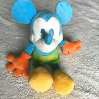 "Walt Disney World Mickey Mouse Plush Toy 18"" Children's Blue Green Orange"