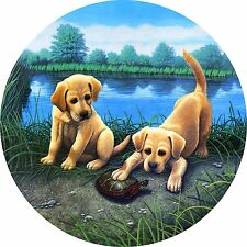 Whats Up Pup Labrador Dog Spare Tire Cover Fits jeep, rv, bus, campers, trailers
