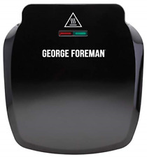 George Foreman 2-Portion Compact Grill Cooking Fat reduction Non Stick Black