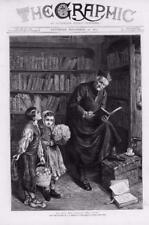 1873 Antique Print - FINE ART PICTURE ARTIST BURGESS EL DIA DEL SANTO  (206)