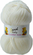 JAROL BABY RAMBLER ARAN * Knitting Wool Yarn * 100g  Colour Choice 100% ACRYLIC