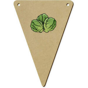 5 x 140mm 'Sprouts' Wooden Bunting Flags (BN00062374)