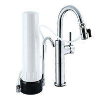 New Countertop Ceramic Carbon Home Kitchen Faucet Filter Drinking Water Purifier