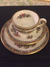 Discontinued Coalport Bone China Ming Rose Miniature Trio Set Tea Cup Saucer & P