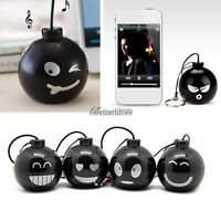 New 3.5mm Mini Bomb Speaker For ipod/ iphone/ PC/ Laptop/ MP3 Mp4/ Cell Phones
