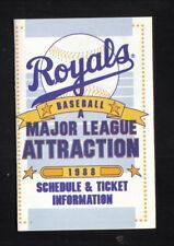Kansas City Royals--1988 Pocket Schedule--KJAM