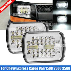 "7x6"" 5x7"" CREE LED Headlight DRL DOT For Chevy Express Cargo Van 1500 2500 3500"