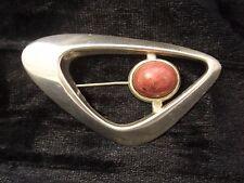 Plata Esterlina & thulite Broche por David Andersen Diseñador Harry Sorby 1964