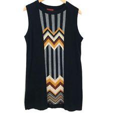 Missoni For Target Women's Sz L Black Geometric Sleeveless Sweater Dress TA24