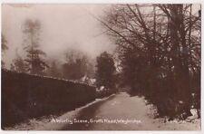A Wintry Scene Grotto Road Weybridge, Surrey Winter Snow RP Postcard B749