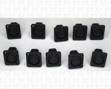 Black Panel Mount PCB Mount 3 Pin XLR Microphone Jacks Lot Of 10