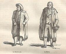 A5568 Le Knave - Le Slave - Xilografia - Stampa Antica del 1850 - Engraving