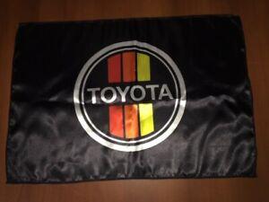 "Toyota Logo 20x30"" Flag Banner Garage Vintage Deco 4WD Land Cruiser Strippes"