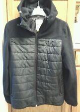 APERTURE Insulated Bonded Fleece Hooded Jacket, Large, black
