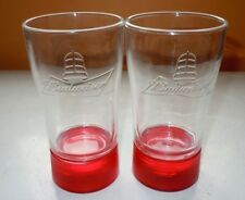 Set Of 2 Budweiser Red Light Goal Synced Glass Bluetooth Sync To Nhl Games Pair