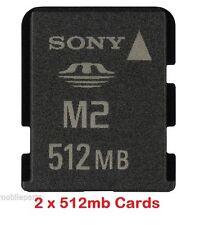 2 x Sony 512mb M2 Memory Stick Micro for C902 C905 K800i K770i W890i W960i W995i