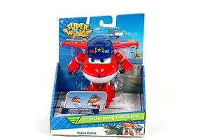 Super Wings Transforming Vehicle Police Jett Plane Bot Figure 5''