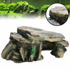 Aquarium Hiding Cave Reptile Climbing Rock Terrarium Stone Fish Tank Decor