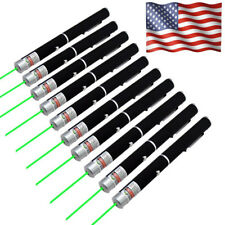 10PCS Visible Beam Green Laser Pointer Pen 200Mile 532nm Portable Mini Pet Toy
