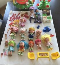 Vintage Strawberry Shortcake Lot of 11 Dolls with Parts