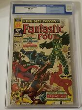 FANTASTIC FOUR ANNUAL 5 CGC 9.4 OW 1ST SOLO SILVER SURFER OLD LABEL Siamese Pgs