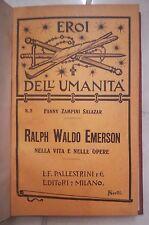 RALPH WALDO EMERSON NELLA VITA E NELLE OPERE ZAMPINI SALAZAR 1905