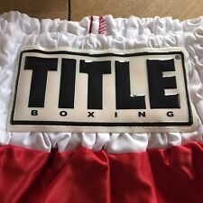 Title Boxing 8 Count Corona Usg Sheetrock Trunks Top Red White 112 F A3770