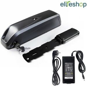 36V 12,5Ah Nera Batteria al Litio per E-Bici Elettriche Ebike + Caricabatteria