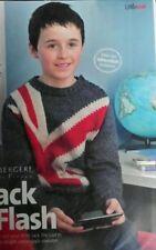 "Knitting Pattern Boys Union Jack jumper Sweater Wool 25"" - 31"" Chest 6-10yrs"