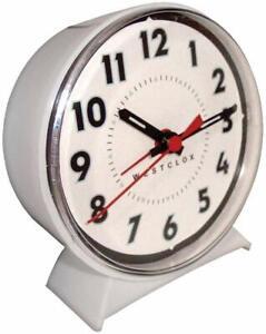 Westclox White Alarm Clock With Luminous Hands 15550