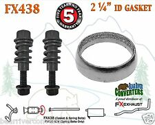 "FX438 2 1/4"" ID Exhaust Donut Gasket & Spring Bolt Stud Nut Hardware Repair Kit"
